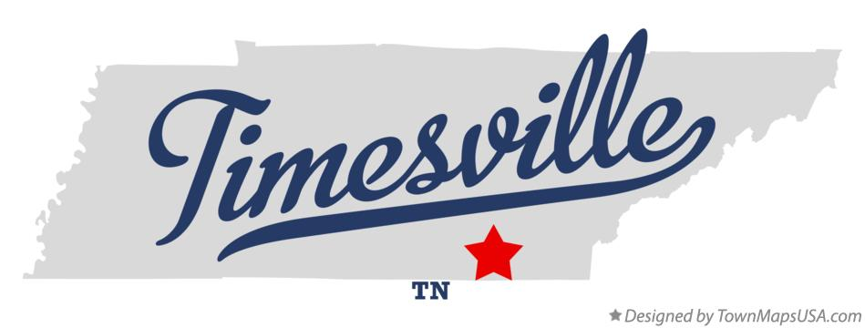Map of Timesville Tennessee TN