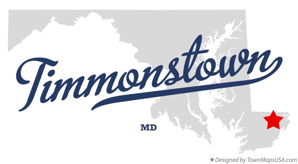 Map of Timmonstown Maryland MD