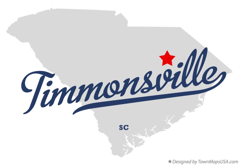 Map of Timmonsville South Carolina SC