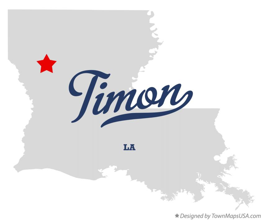 Map of Timon Louisiana LA