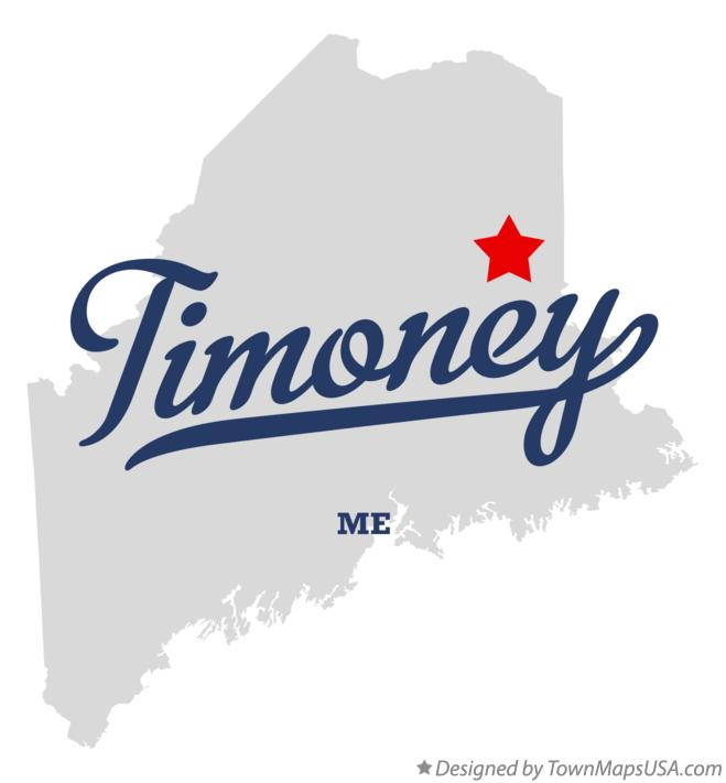 Map of Timoney Maine ME