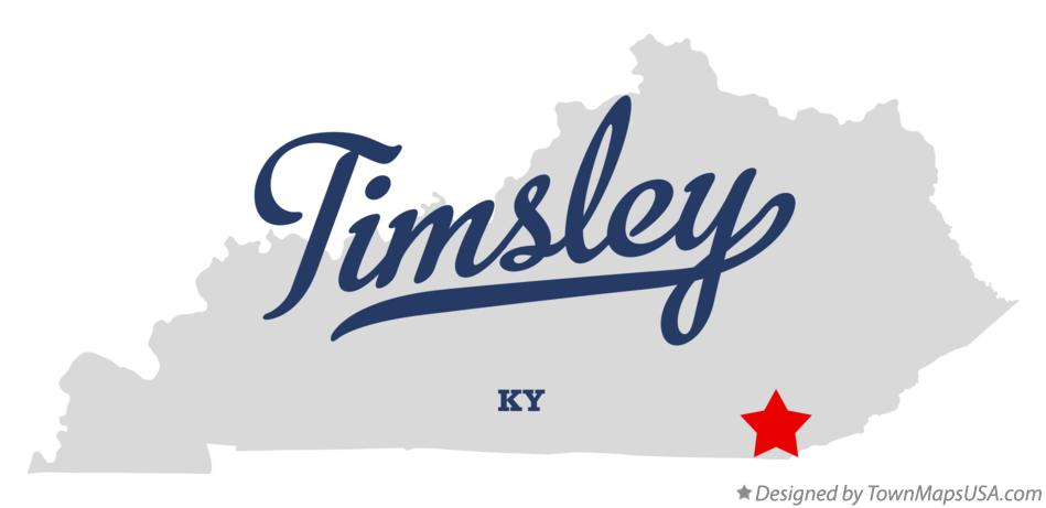 Map of Timsley Kentucky KY