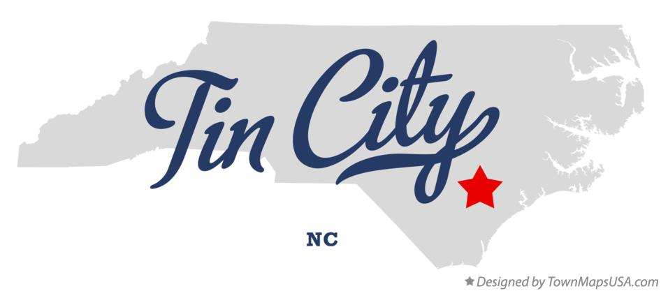 Map of Tin City North Carolina NC