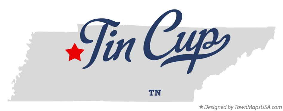 Map of Tin Cup Tennessee TN