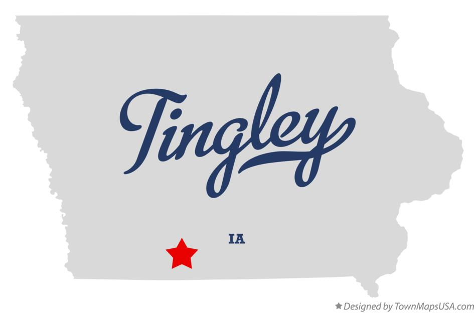 Map of Tingley Iowa IA