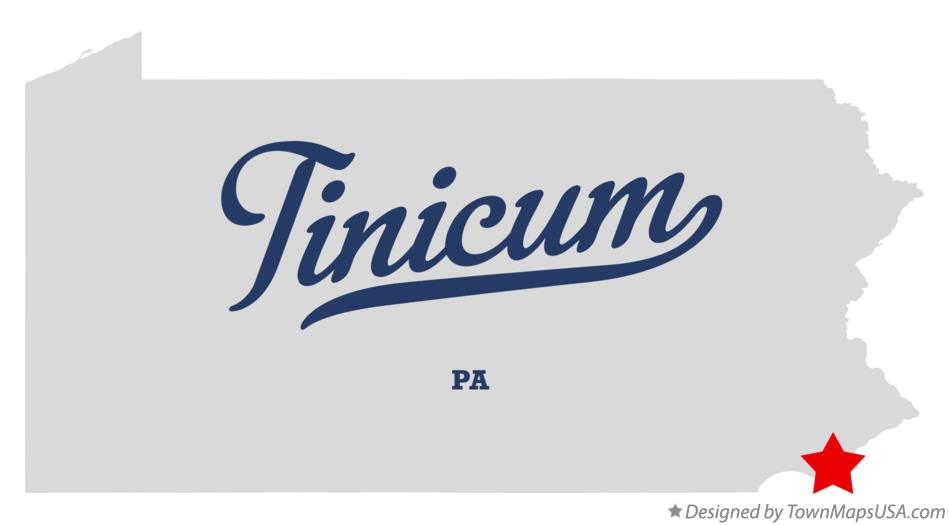 Map of Tinicum Pennsylvania PA