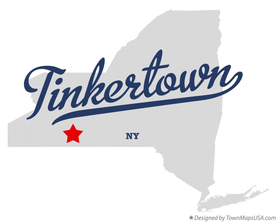 Map of Tinkertown New York NY