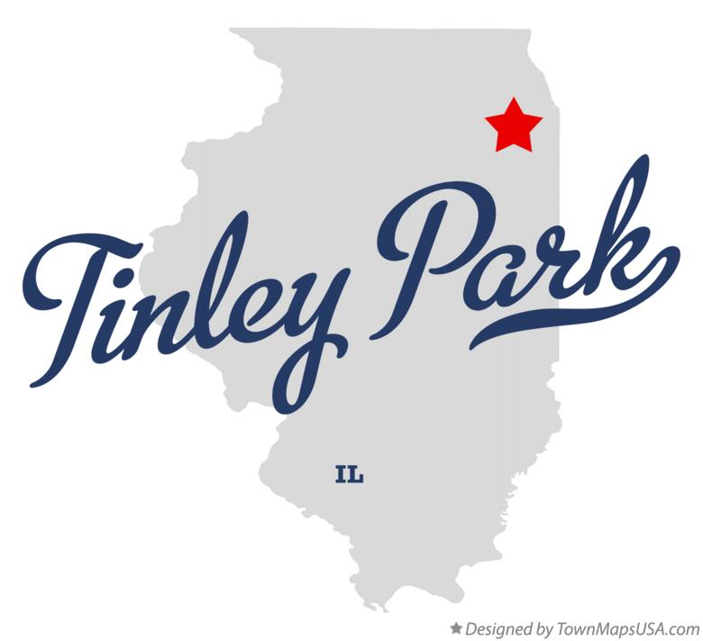 Map of Tinley Park Illinois IL