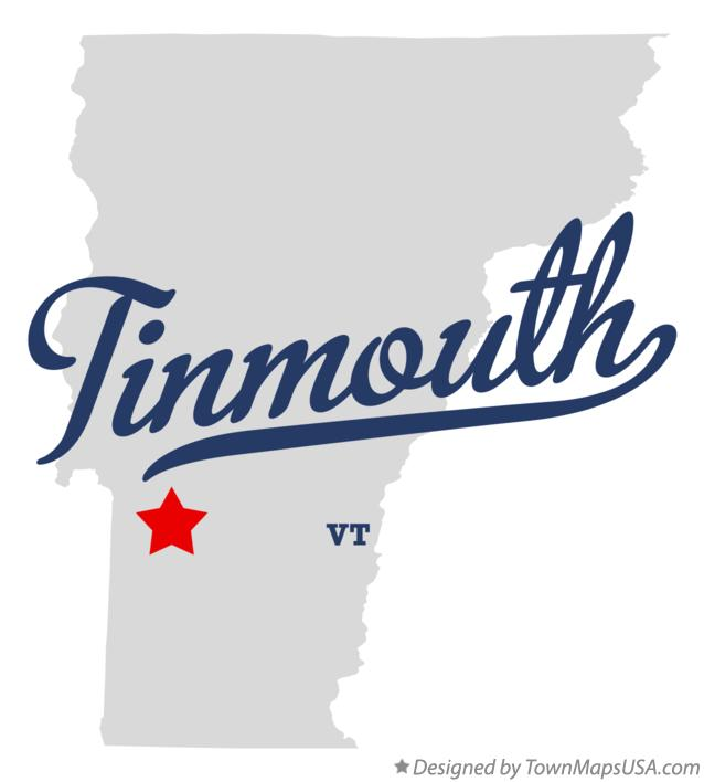 Map of Tinmouth Vermont VT