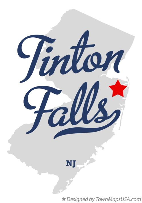Map of Tinton Falls New Jersey NJ