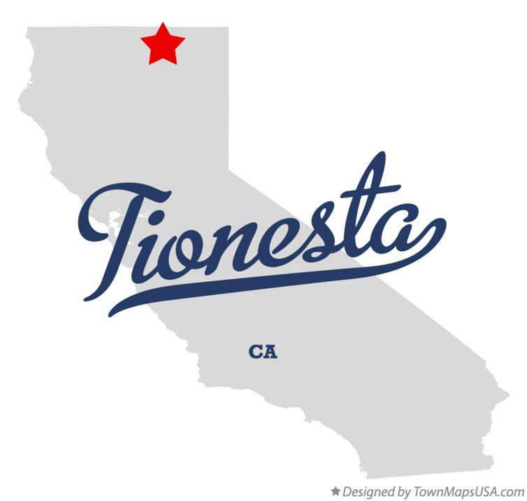Map of Tionesta California CA