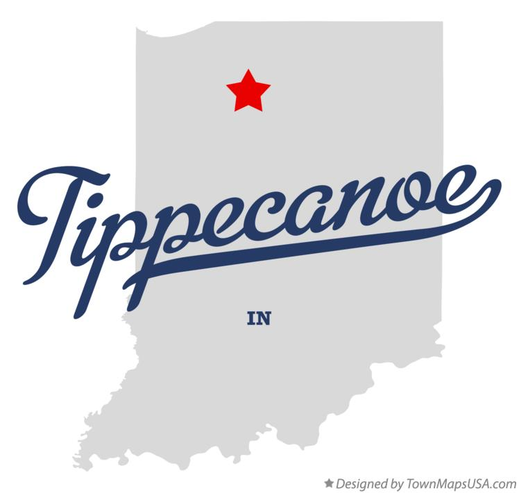 Map of Tippecanoe Indiana IN