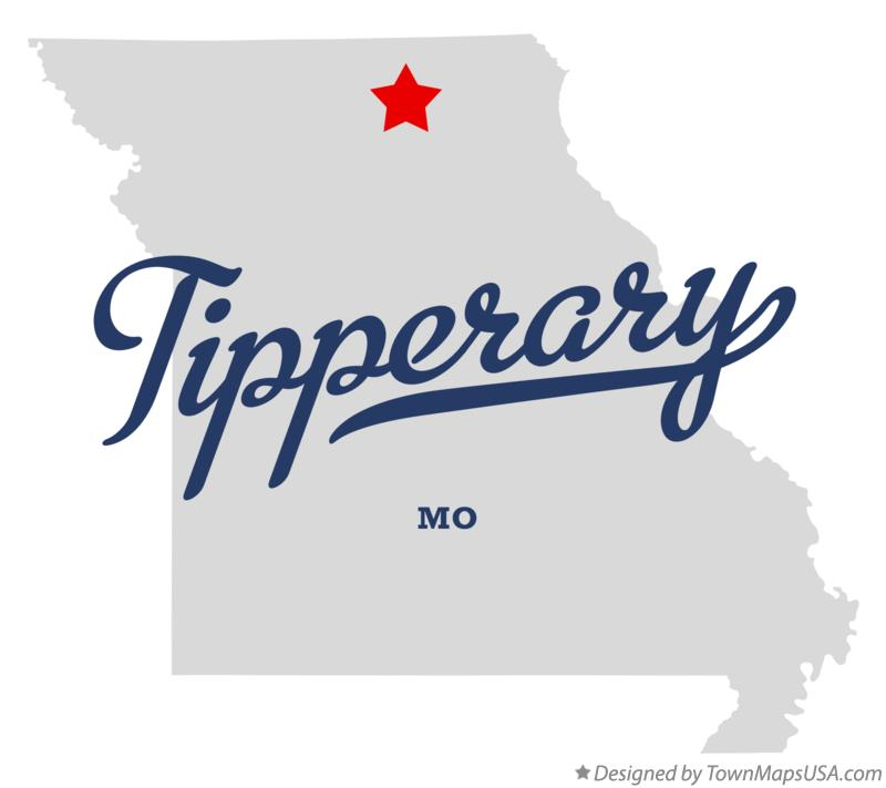 Map of Tipperary Missouri MO