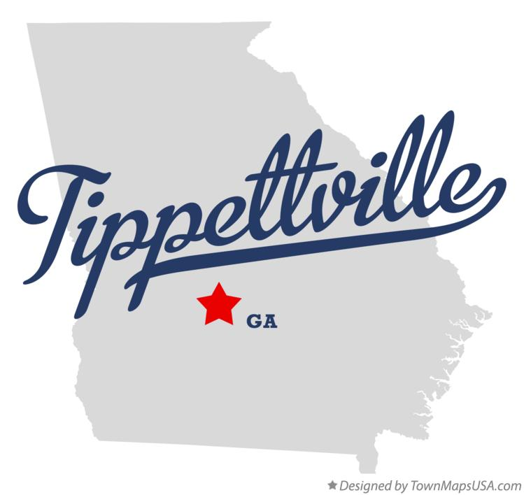 Map of Tippettville Georgia GA