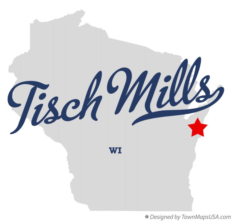 Map of Tisch Mills Wisconsin WI