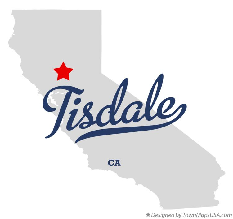 Map of Tisdale California CA