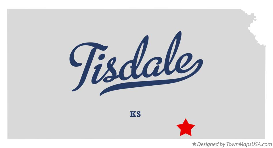 Map of Tisdale Kansas KS