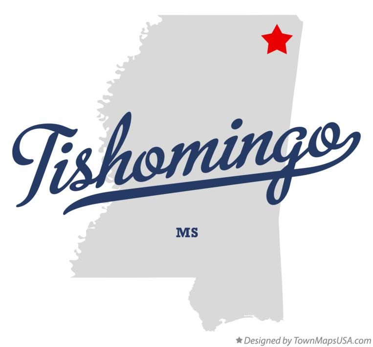Map of Tishomingo Mississippi MS