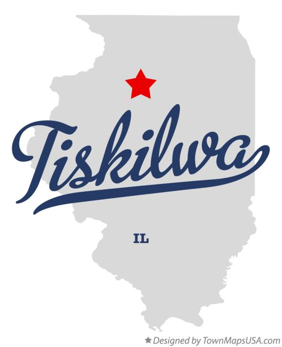 Map of Tiskilwa Illinois IL