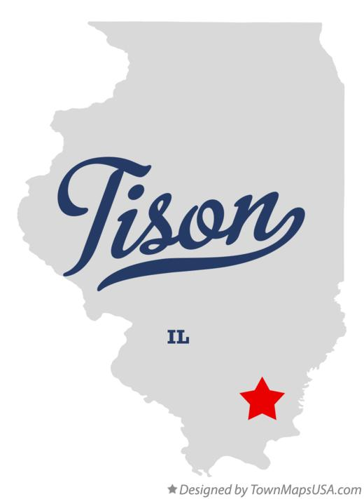 Map of Tison Illinois IL