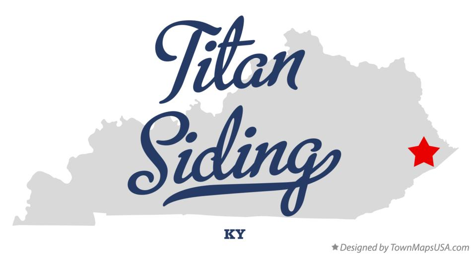Map of Titan Siding Kentucky KY