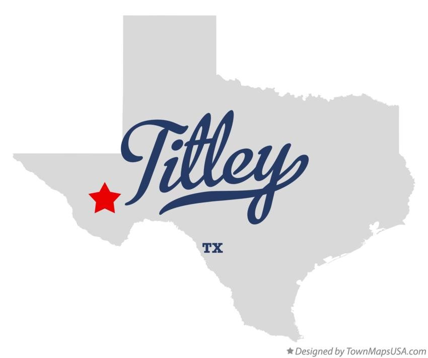 Map of Titley Texas TX