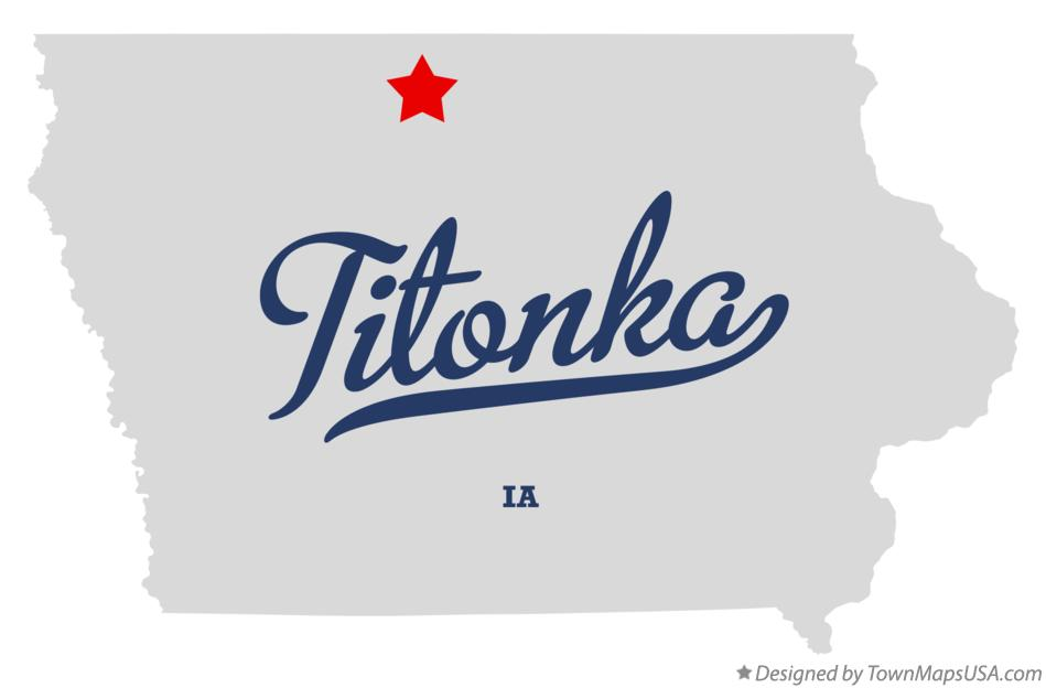 Map of Titonka Iowa IA