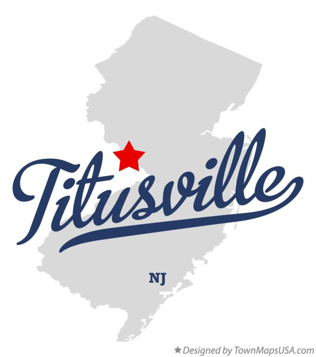 Map of Titusville New Jersey NJ