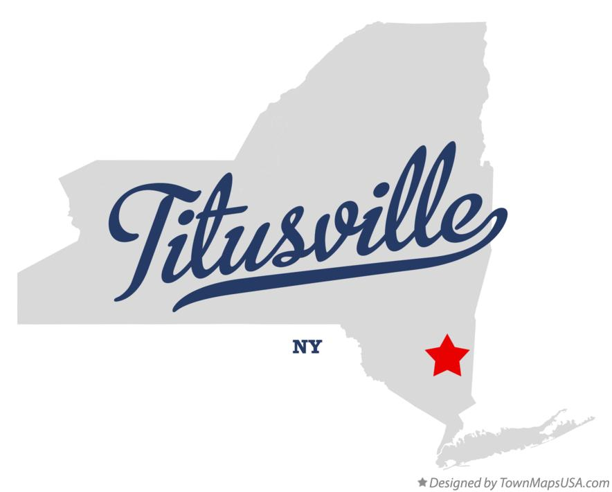Map of Titusville New York NY