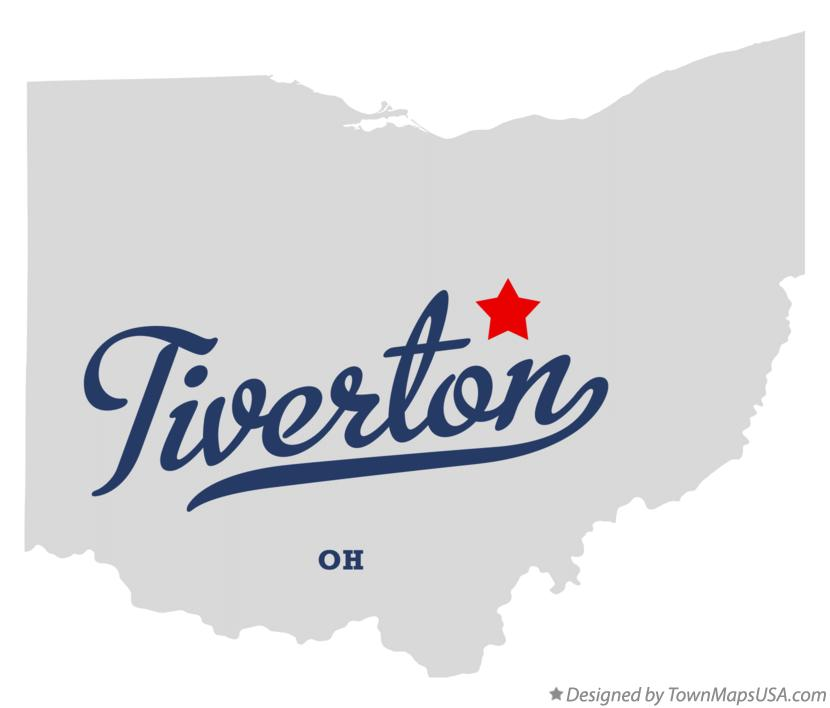Map of Tiverton Ohio OH