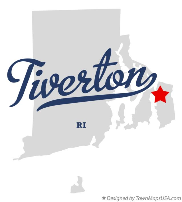 Map of Tiverton Rhode Island RI