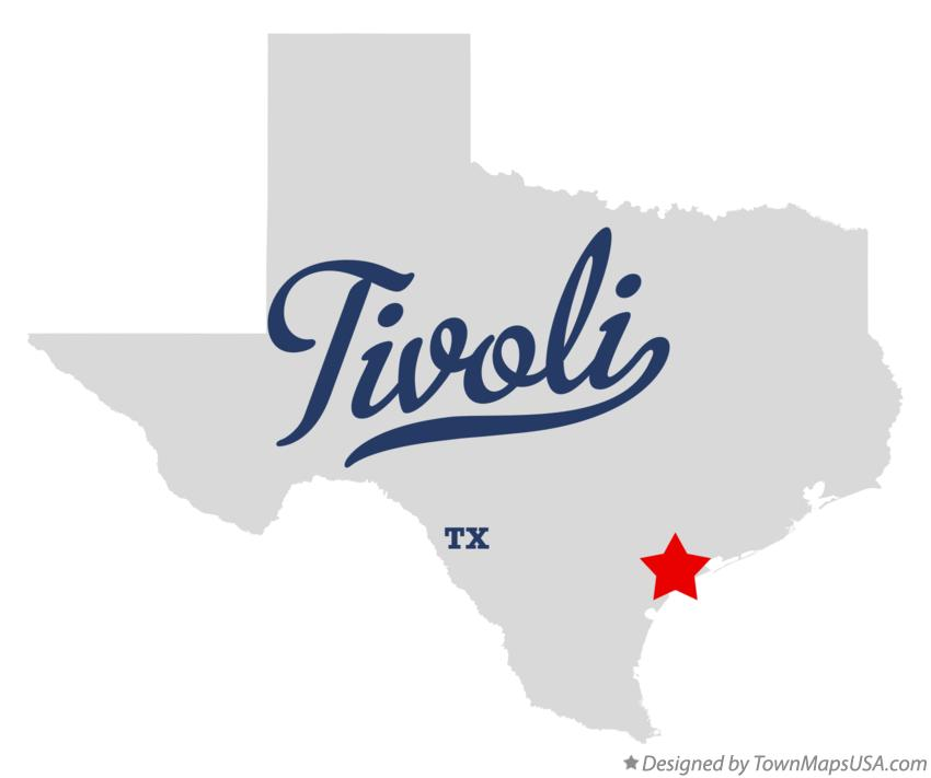 Map of Tivoli Texas TX