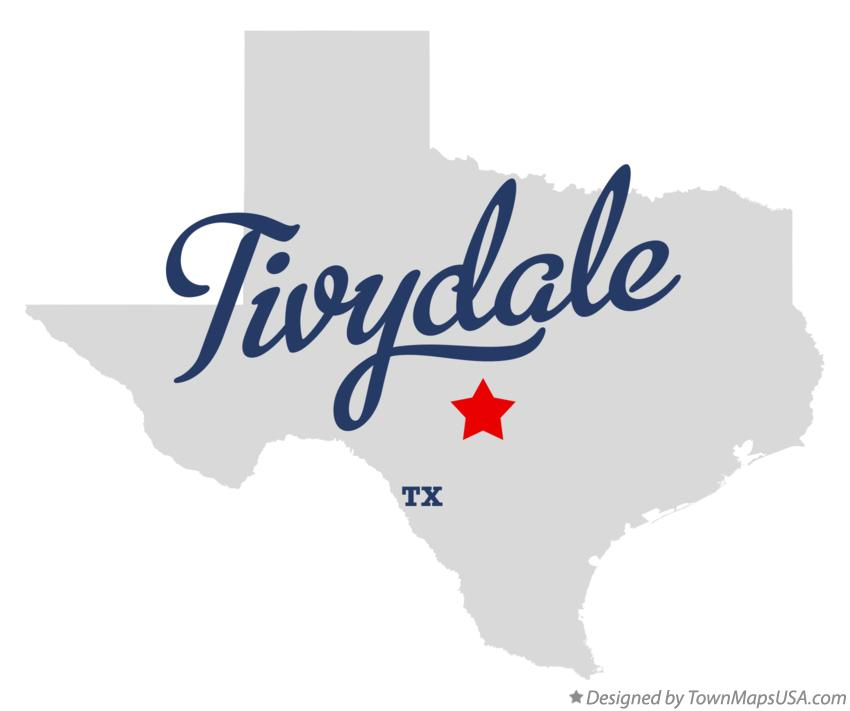 Map of Tivydale Texas TX