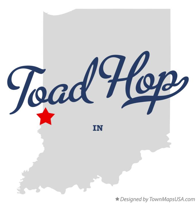 Map of Toad Hop Indiana IN