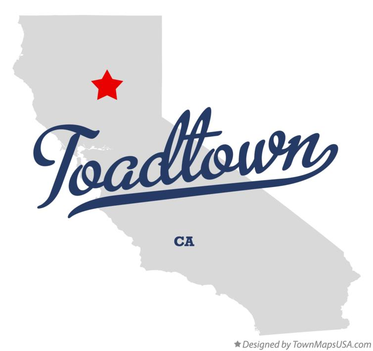Map of Toadtown California CA