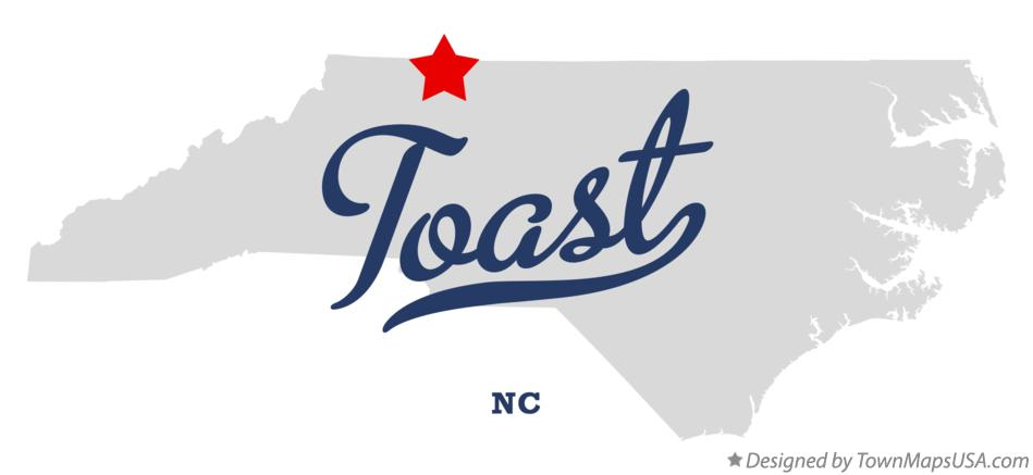 Map of Toast North Carolina NC