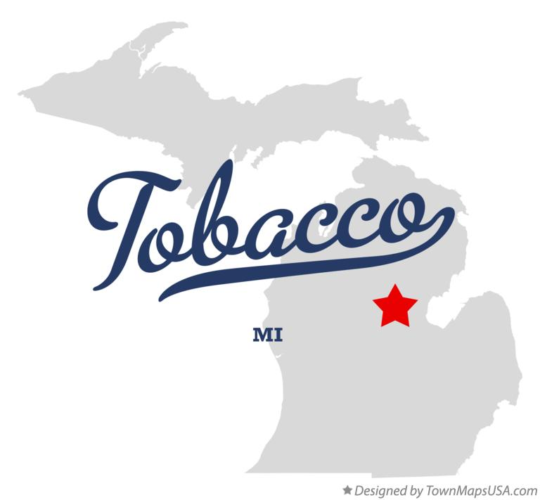 Map of Tobacco Michigan MI