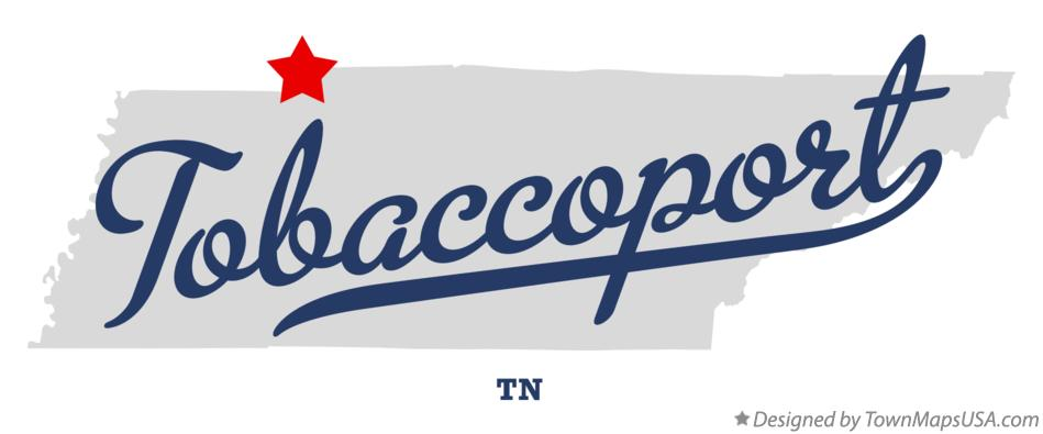 Map of Tobaccoport Tennessee TN