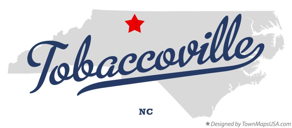 Map of Tobaccoville North Carolina NC