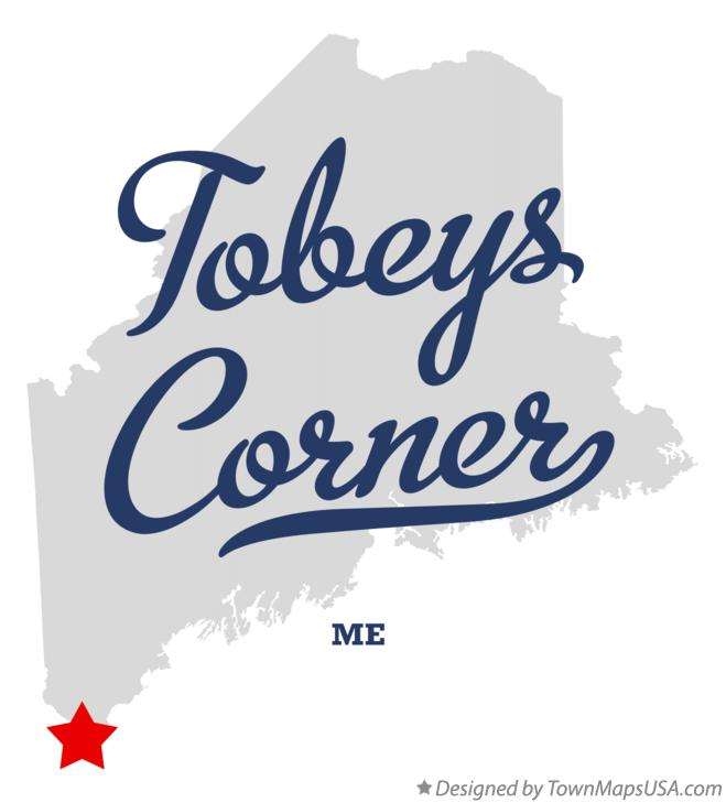 Map of Tobeys Corner Maine ME