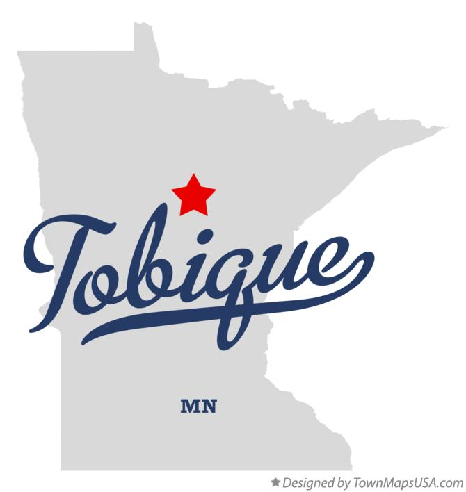 Map of Tobique Minnesota MN