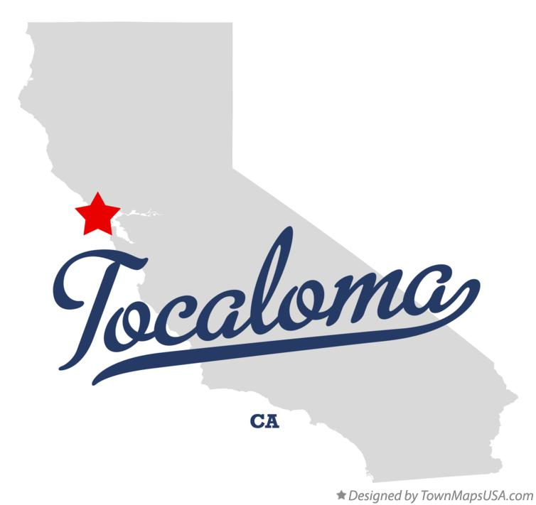 Map of Tocaloma California CA