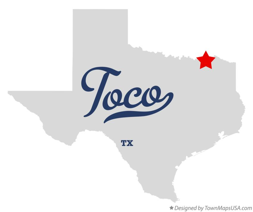 Map of Toco Texas TX