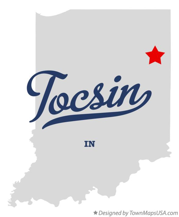 Map of Tocsin Indiana IN