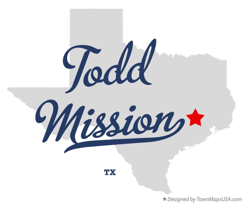 Map of Todd Mission Texas TX