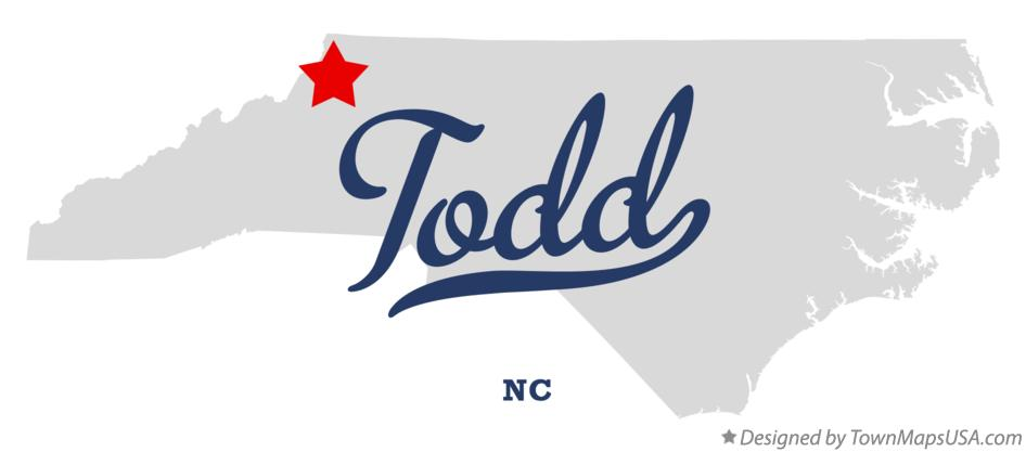 Map of Todd North Carolina NC