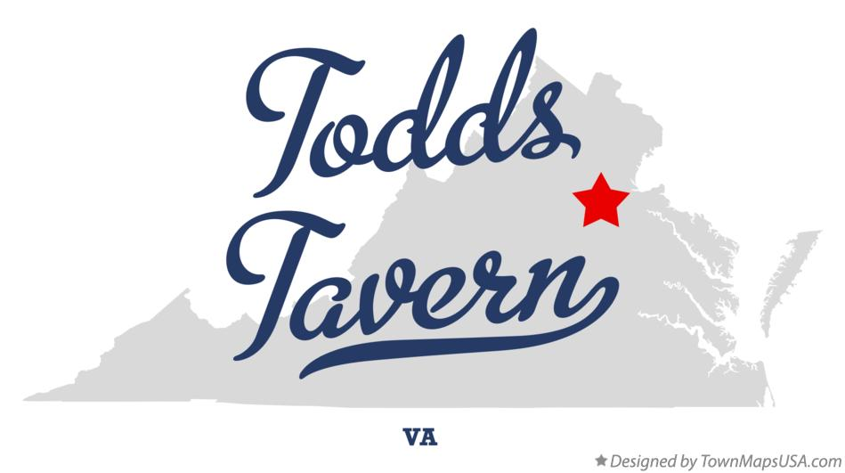 Map of Todds Tavern Virginia VA