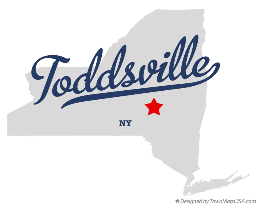 Map of Toddsville New York NY