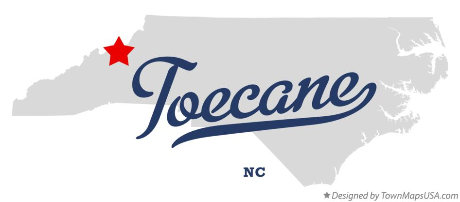 Map of Toecane North Carolina NC