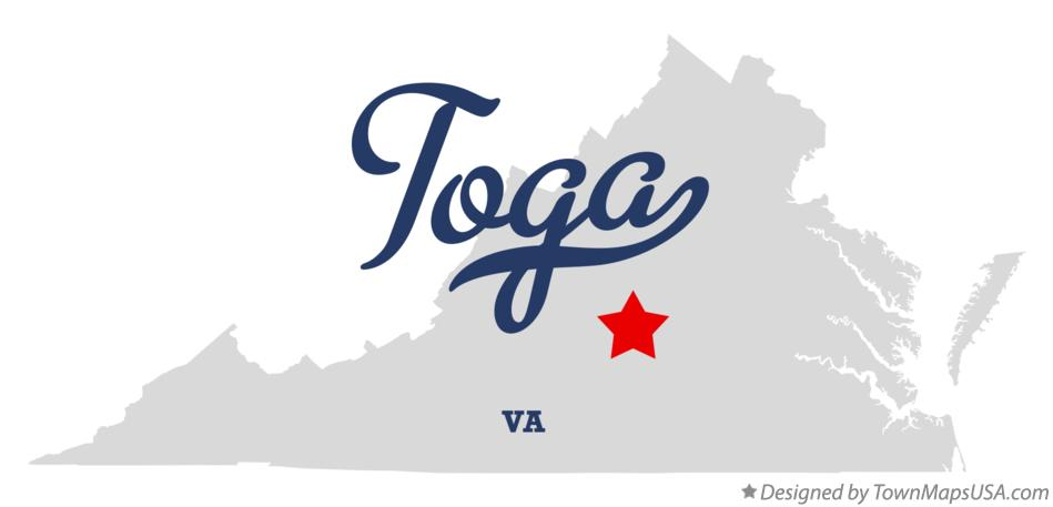 Map of Toga Virginia VA